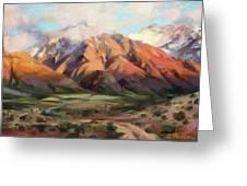 Mt Nebo Range Greeting Card