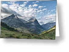 Mt. Oberlin From Logan Pass Greeting Card by Jemmy Archer