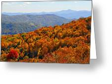 Mt. Pisgah From Crabtree Bald Greeting Card