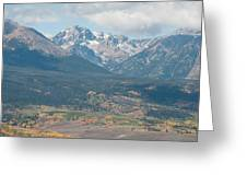 Mt. Powell - Gore Range Greeting Card