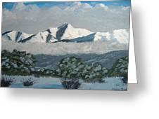 Mt Princeton Co Greeting Card