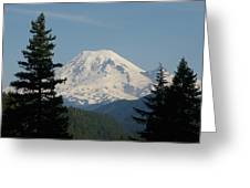 Mt Rainer From The Hills In Packwood Wa  Greeting Card
