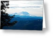 Mt Rainier And Lenticular Cloud Greeting Card