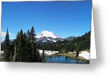Mt. Rainier And Tipsoo Lake Greeting Card