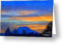 Mt. Rainier At Sunrise Greeting Card