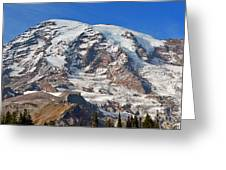 Mt. Rainier In The Fall Greeting Card