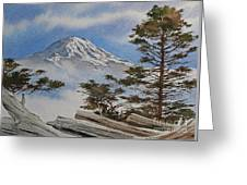 Mt. Rainier Landscape Greeting Card