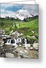 Mt Rainier Paradise Portrait Greeting Card