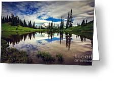Mt Rainier Reflections Greeting Card