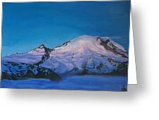 Mt Rainier Sunrise Greeting Card by Aura Petersen