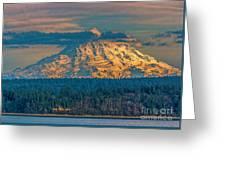 Mt Rainier Sunset Greeting Card