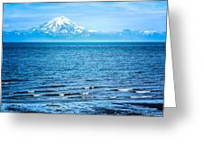 Mt. Redoubt Cooke Inlet Greeting Card by Claudia Abbott