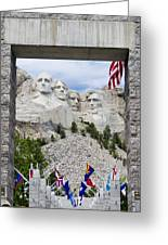 Mt Rushmore Entrance Greeting Card