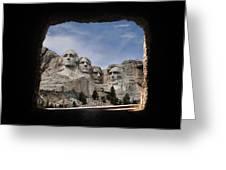 Mt Rushmore Tunnel Greeting Card