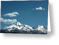 Mt Shasta With Heart-shaped Cloud Greeting Card