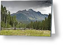 Mt Sneffels In The Colorado Rocky Mountains Greeting Card