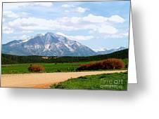 Mt. Sopris II - A Colorado Landscape Greeting Card