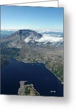 Mt. St. Helens Aerial 2225 Greeting Card