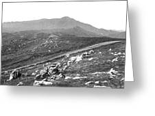 Mt Tam From The Tiburon Hills 1975 Greeting Card