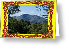 Mt Tamalpais Framed 4 Greeting Card