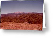 Mt Taylor In New Mexico  Greeting Card