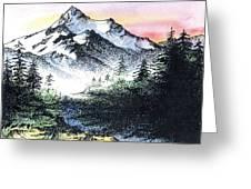 Mt Thielson Oregon Greeting Card