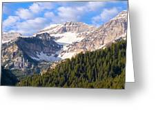 Mt. Timpanogos In The Wasatch Mountains Of Utah Greeting Card