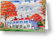 Mt. Vernon East Front In Fall Greeting Card