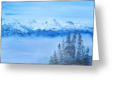 Mt. Whistler Canada  Greeting Card