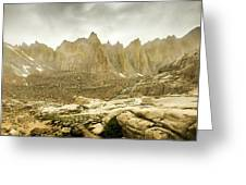 Mt Whitney Sierra Basecamp Greeting Card