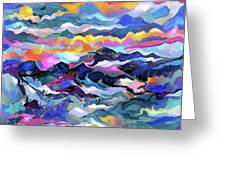 Mts. In The Sea Greeting Card