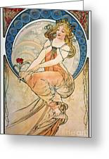 Mucha: Poster, 1898 Greeting Card