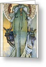 Mucha: Theatrical Poster Greeting Card