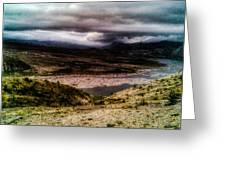 Mud Flow To Spirit Lake Color Greeting Card