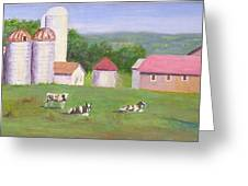 Mud Lake Dairy Farm Greeting Card