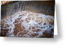 Muddy Waterfall Greeting Card