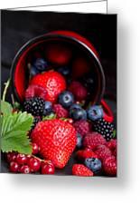 Mug With Fresh Berries Greeting Card