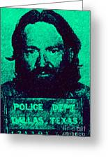 Mugshot Willie Nelson P28 Greeting Card by Wingsdomain Art and Photography