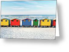 Muizenberg Beach Huts 2 Greeting Card