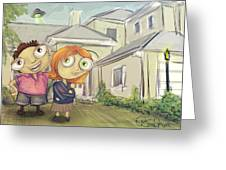 Mulder And Scully In Acadia Greeting Card