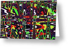 Multi Color Abstract Greeting Card