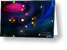 Multi-colored Constellation  Greeting Card
