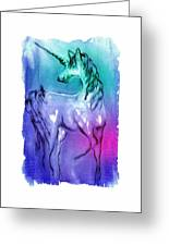 Multi Coloured Unicorn Greeting Card