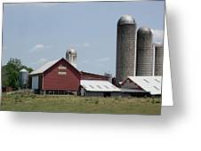 Multi Silo Farm Greeting Card