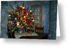 Multicolor Floral Arrangement Greeting Card