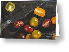 Multicolored Cherry Tomatoes Greeting Card