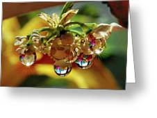 Multicolored Drops Greeting Card
