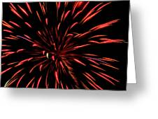 Multicolored Fireworks 2 Greeting Card
