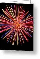 Multicolored Fireworks Greeting Card