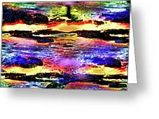 Multiple Underwater Sunsets Greeting Card